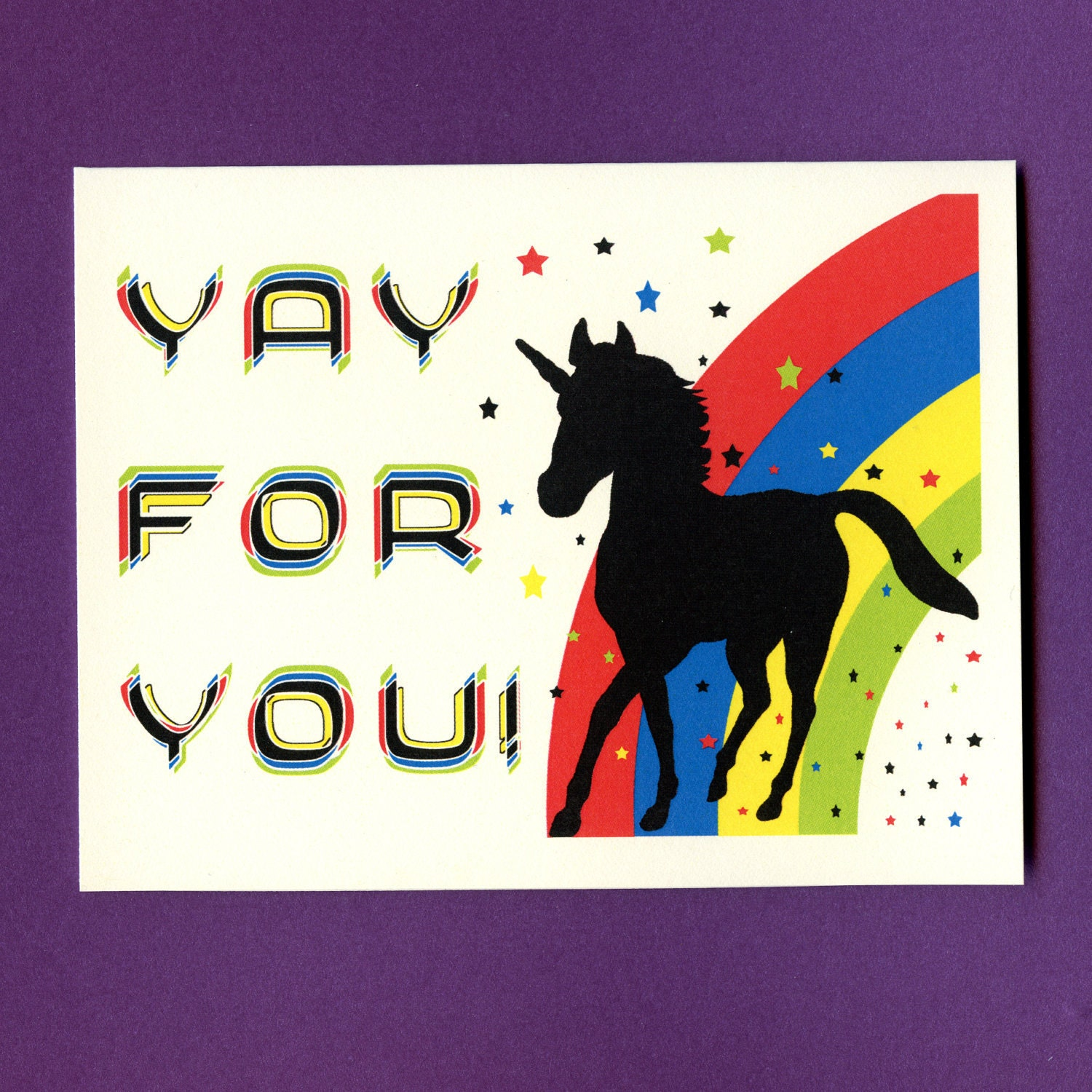 Funny Congratulations Card YAY FOR YOUNICORN by seasandpeas: https://www.etsy.com/listing/104925892/funny-congratulations-card...