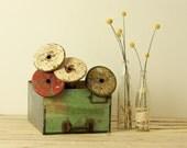 RESERVED FOR MELANIE vintage industrial thread spools