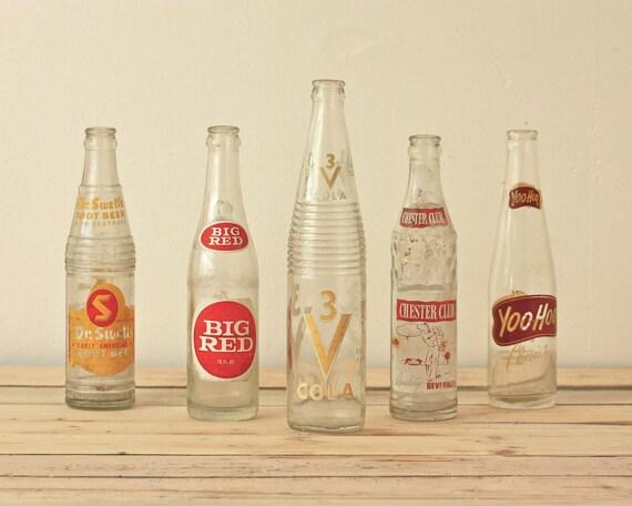 instant collection vintage soda bottles