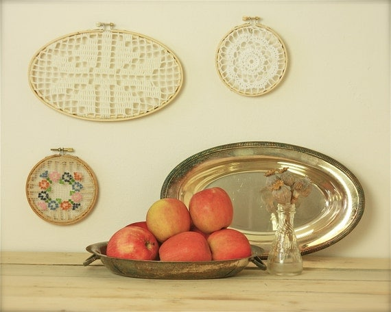 RESERVED  vintage silver trays