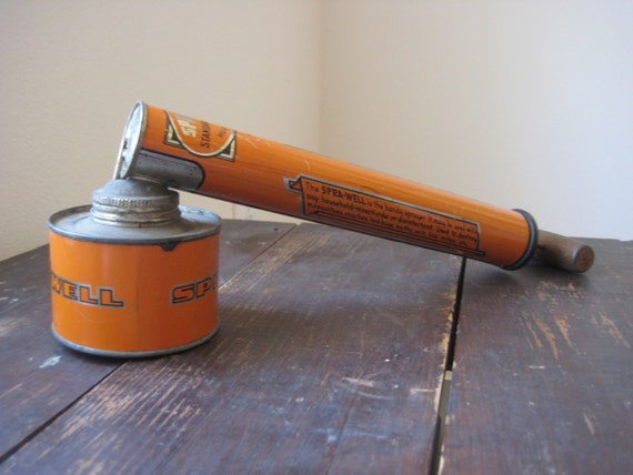 Vintage metal SPRA-WELL bug sprayer