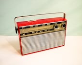 Vintage Transistor Radio Red Stern Party II Working