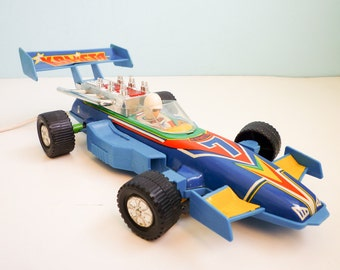 Vintage Remote Controlled Tin Toy Race Car 70s F1 Indy Car LARGE