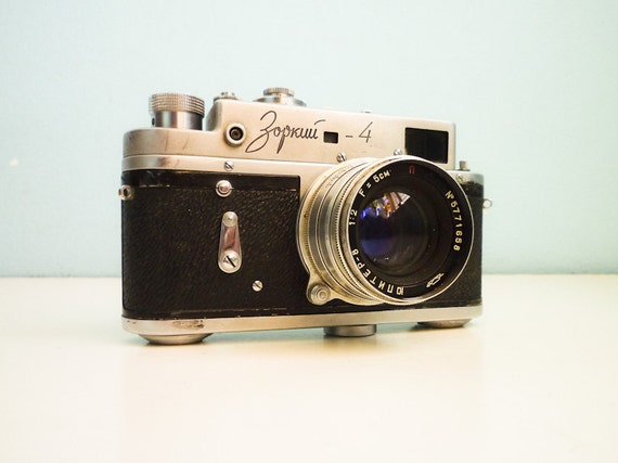 Vintage 35mm film camera Zorki 4 Russian Jupiter 8 2/50
