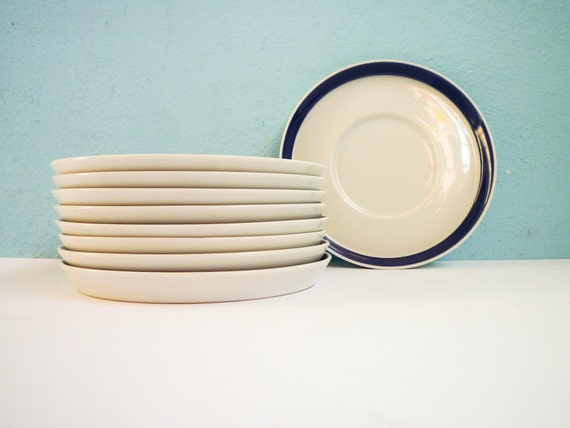 Reserved fo PI - Rosenthal Set of 9 Small Blue Plates Dishes Ceramic Porcelain