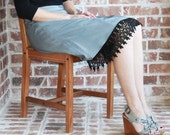 Dress Extender Slip: Black Venice Lace