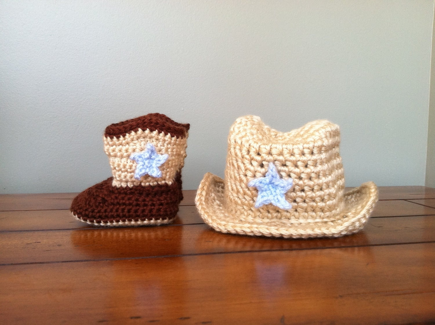 Crochet Baby Cowboy Hat And Boots Pattern Free ~ SquareOne for .