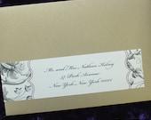 Custom Vintage Personalized Envelope Label Wraps