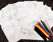 CHOOSE ANY 12 printable colouring pages - downloadable PDFs