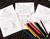 CHOOSE ANY 3 printable colouring pages - downloadable PDFs