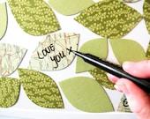 Leaf a message magnet set - brighter greens