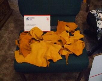 1 lb. SAMPLE PACK Soft Elk Leather Scraps