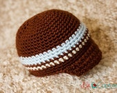Infant Boys brown hat with visor