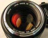 Canon FD 55mm 1.2 Fastest Lens / Rare Chrome Nose / Works with all FD mount Camera