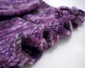 ON SALE - Purple Ruffles Wool Longies, 9-12 Months