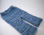 ON SALE - Blue Wool Longies, 0-3 Months