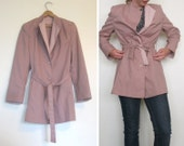 mauve two-tone trench coat - vintage