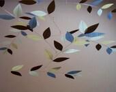 "Stylized Leaf Mobile (""Twilight Twig"" Color Combo)"