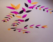 """Tree-theme Leaf Mobile in """"Orchid Stem"""" Color Combo"""