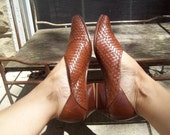 RESERVED FOR ANNA Woven Leather Slip On Shoes Size 7.5