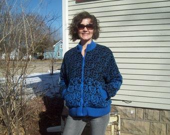 80's Reversible Sweater Coat 80's Fashion Retro Hipster Jacket
