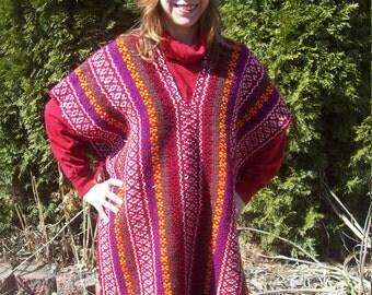 Beautiful Woven Blanket Poncho