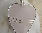 Pink Sea Glass Jewelry Heart