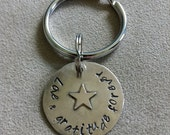 Men's Sterling Silver Key Ring.  Customized. Personalized. Recycled Metal.  Dad Gift. Boyfriend. Free Shipping.