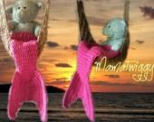 Hot Pink Newborn Mermaid Tail