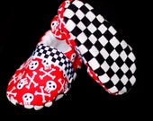 SALE - Jackson Baby Shoe - Soft Sole - Checkered Flag - Red Skull Pirate - Fleece Lined