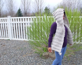Oatmeal Hooded Scarf