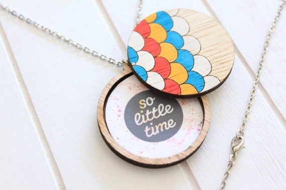 Wooden Photo Locket - Circles