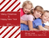 Christmas photo card, Candy Cane Wishes, Christmas picture, holiday party invitation, Winter birth announcement, School Class greeting card