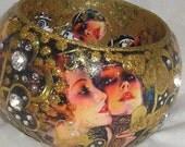 HELLO,GORGEOUS   One Of A Kind embellished wood bangle by Ruby B Bangles