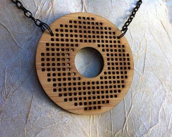Cross Stitch Jewellery Blank -  donut shape