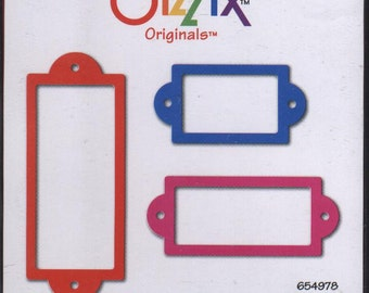 Brand New Sizzix bookplates frame Large Red Die by Provo Craft