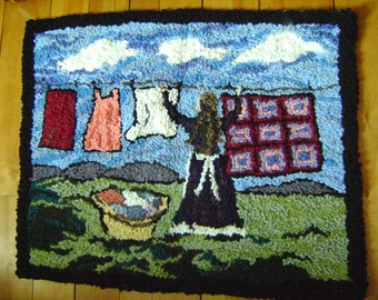 Living the farm dream-Hand hooked rug
