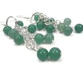 Handmade Jade Gemstone Dangle Earrings