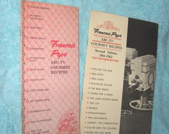 2 Francois Pope ABC-TV Gourmet Recipes Pamphlets, 2nd Edition 1961-1962