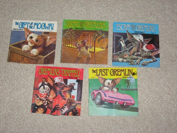 Gremlin Book & Record Set, Vintage 1984, Full Set