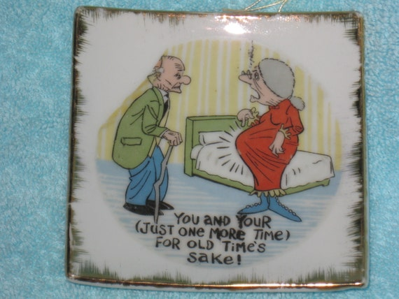 Vintage Bradley Exclusives Japan Funny Small Wall Plate, Just One More Time