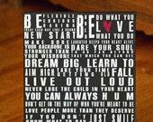 david m bailey Words of Wisdom 12x12 Canvas