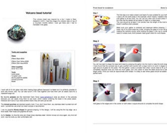 Instant download Lampwork glass tutorial lampworking making glass beads volcano by Anne Londez SRA