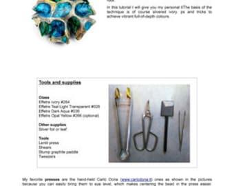 Glass beadmaking tutorial lampwork Sea Rocks Glass bead How to make glass beads Glass bead tutorial Anne Londez Instant Download Sea Rocks