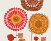 Poster Flowers No2, limited edition giclee print