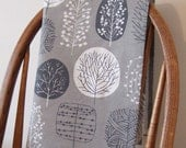 Trees Tea Towel in Slate and Charcoal