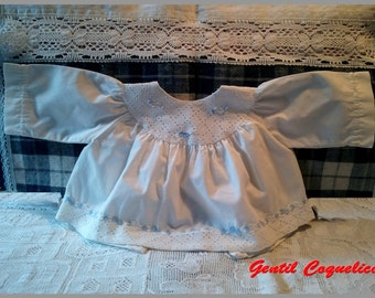 Vintage baby shirt with eyelet