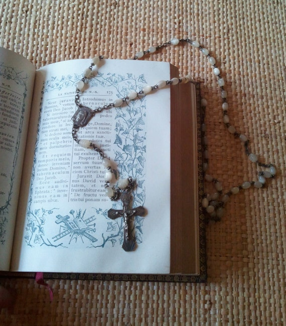 Antique mother of pearl French Rosary