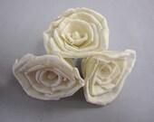 Sola Rose Flowers  -- Set of 50 -- Cream White