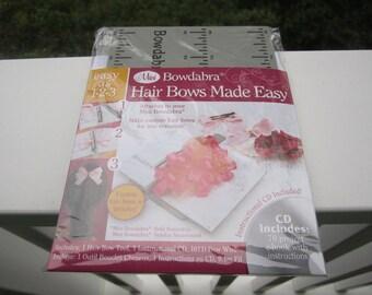 Bowdabra mini Hair Bow Maker -- DVD with 70 hair bow tutorial